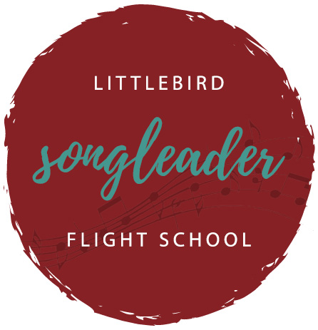 "Decorative logo for ""Little Bird Songleader Flight School"""
